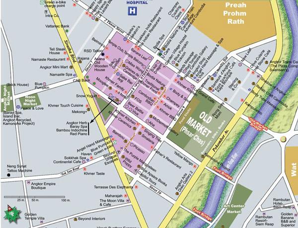 Siem Reap sehir haritasi