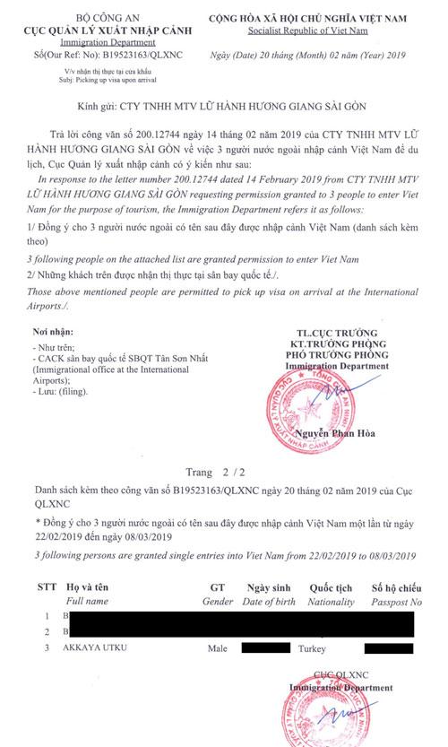 vietnam c1 belgesi nedir