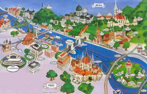 Budapeşte gezilecek yerler haritası