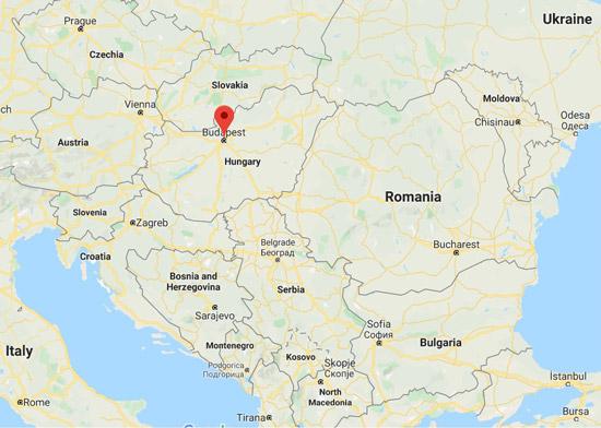 Macaristan haritası - başkent Budapeşte
