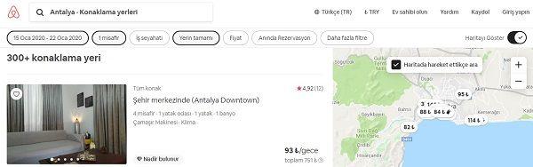ev kiralama siteleri airbnb