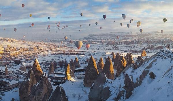 türkiye'de kışın gezilecek yerler kapadokya