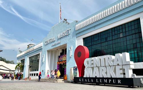 central market pasar seni alışveriş