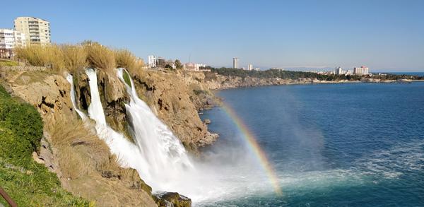 ilkbaharda gezilecek yerler gidilecek en güzel ülkeler türkiye antalya düden şelalesi