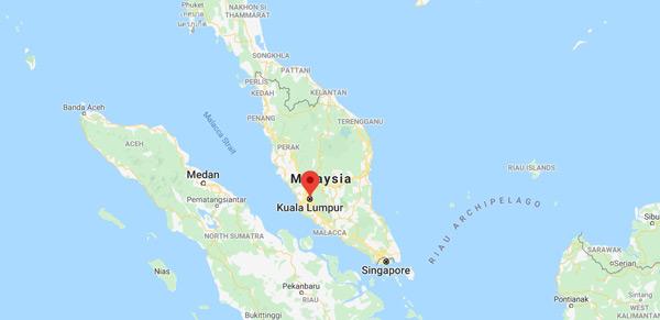 malezya haritası, kuala lumpur nerede, hangi ülkede, nerenin başkenti