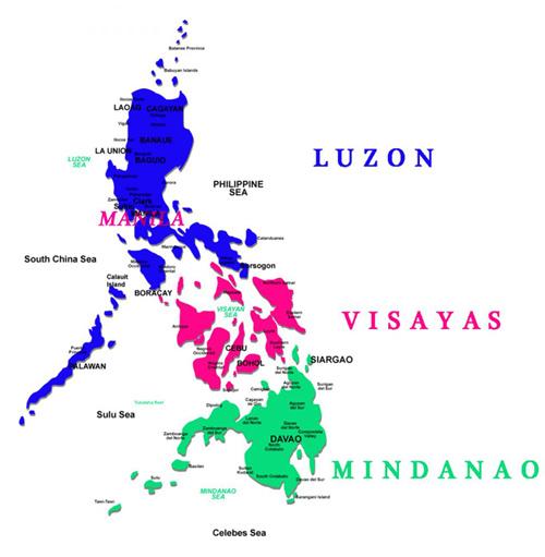 filipinler haritası, nerede, hangi kıtada, başkenti neresi, kaç adadan oluşur