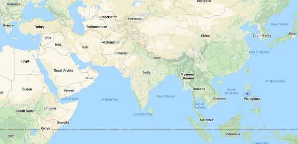 filipinler nerede hangi kıtada başkenti neresidir dünya haritası