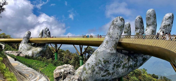 golden bridge, vietnam gezilecek yerler, da nang turu, ba na hills gezisi