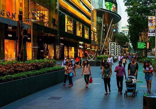 orchard road alışveriş gece hayatı singapur gezilecek yerler