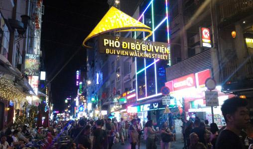 vietnam gece hayatı hakkında bilgiler bui vien walking street gezilecek yerler