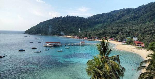 malezya gezilecek yerler tioman adası plajı