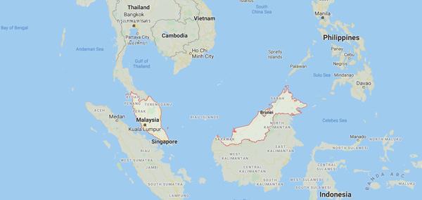 malezya nerede dünya haritası