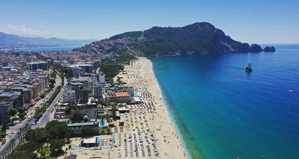 türkiye en güzel tatil beldeleri alanya kleopatra plajı