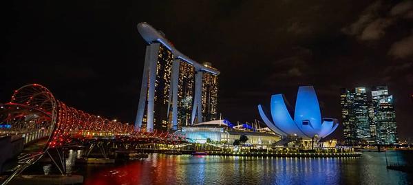 singapur gece hayatı marina bay sands hotel