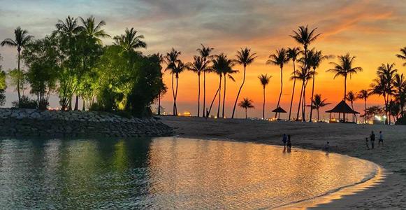 tanjong beach club singapur sentosa adası tatil