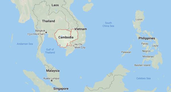 Kamboçya gezi rehberi dünya haritası