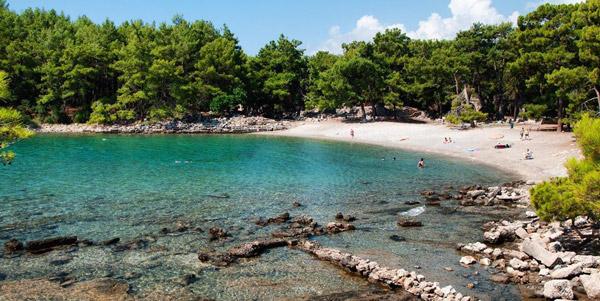 phaselis antik kenti koyu plajı