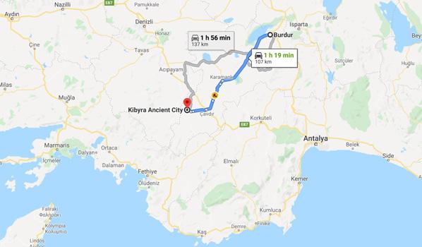 Kibyra Antik Kenti nerede nasıl gidilir