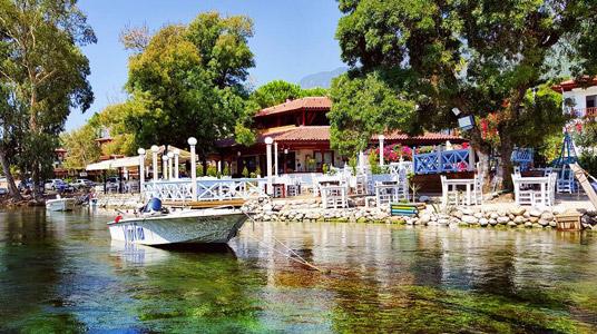 muğla akyaka azmak nehri tekne turu ege doğal güzellikleri