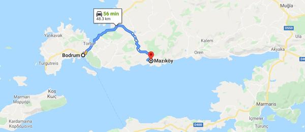 muğla mazı köyü nerede nasıl gidilir harita