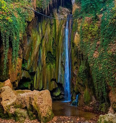 yeşildere şelalesi ağlayan kaya