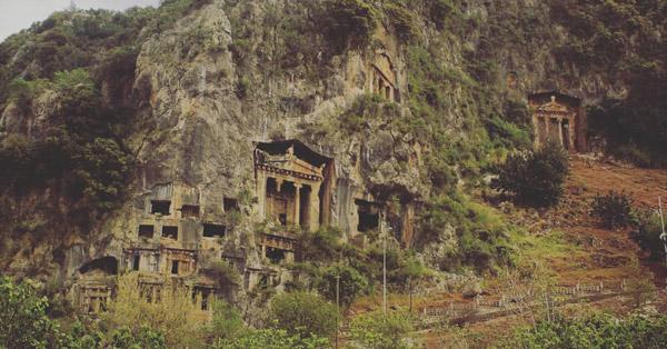 amintas kaya mezarları fethiye gezilecek yerler