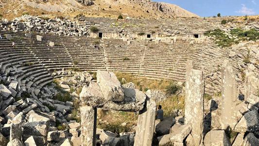 sagalassos antik kenti ağlasun tiyatro