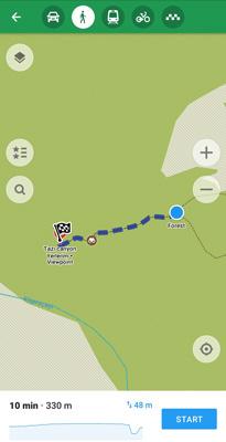 yürüyüş parkuru maps me uygulaması