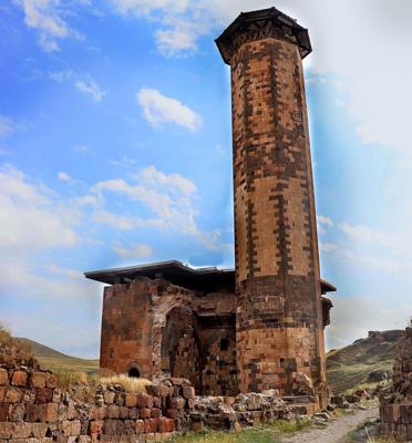 ebu'l menuçihr camii ani antik kenti