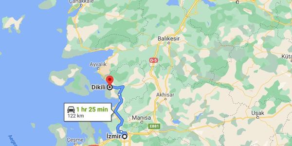 Dikili nerede nasıl gidilir İzmir kaç km Denize girilecek gezilecek yerler