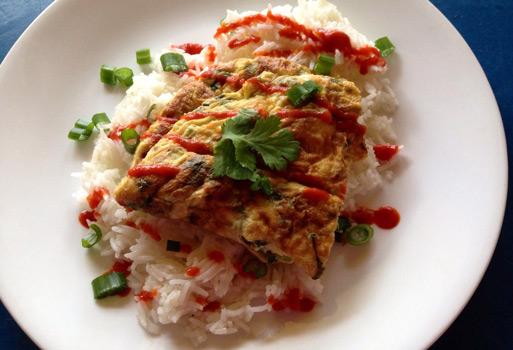 Kai Jeow Tayland yemekleri omlet