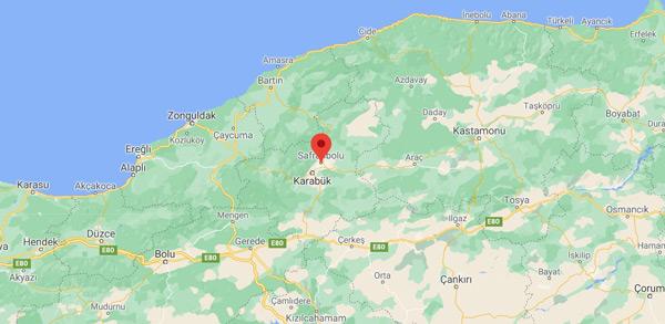 Karabük Safranbolu nerede hangi bölgede nereye bağlı nasıl gidilir gezi haritası