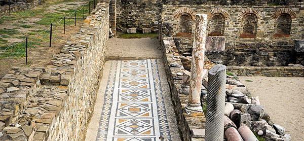 Makedonya gezilecek turistik yerler tarihi Stobi Antik Kenti