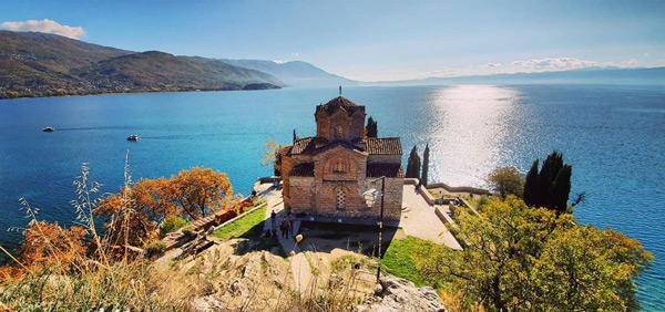 ohrid gölü st. john kilisesi