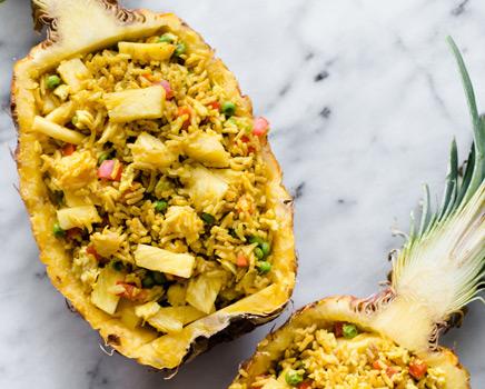 Tayland yemek kültürü mutfağı Pineapple Fried Rice