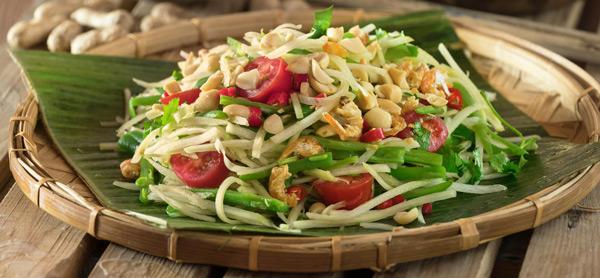 Tayland yemek kültürü Sokak yemekleri Som Tam