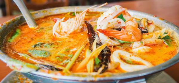 tom yum goong çorba Bangkok ne yenir