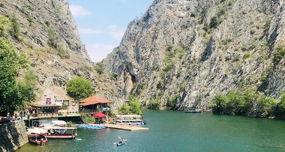 Üsküp gezilecek yerler Matka Kanyonu nerede Gezi Rehberi