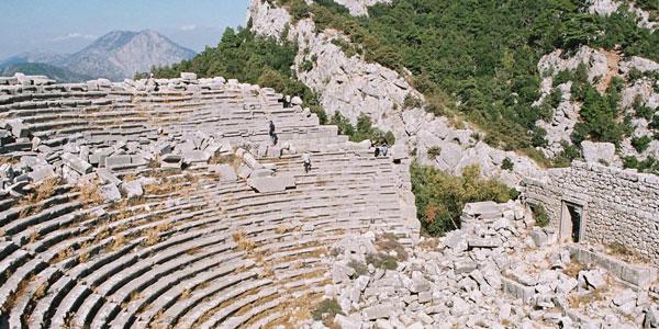 Antalya Termessos Antik Kenti Güllük Dağı Milli Parkı Nerede Tiyatro