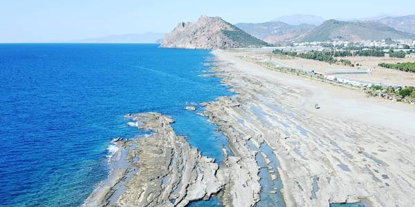Gazipaşa gezilecek yerler Koru Plajı Doğal Havuzlar nerede