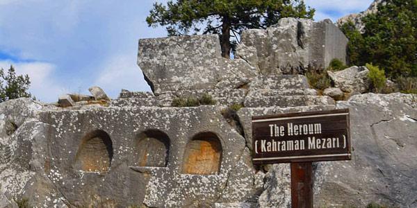 Kahraman Mezarı Akdeniz Bölgesi tarihi yerler