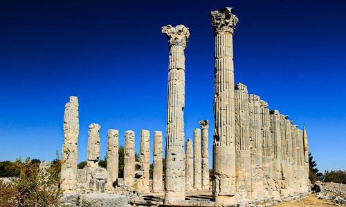 Mersin gezilecek tarihi yerler Silifke Uzuncaburç Antik Kenti