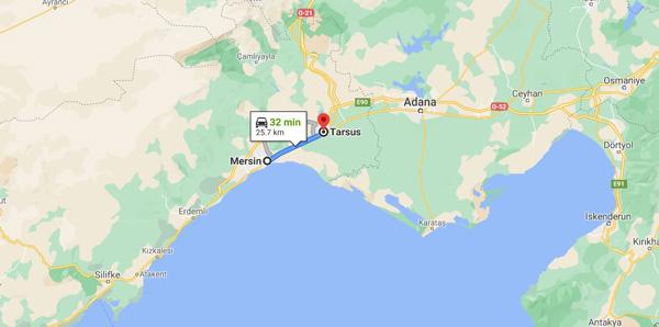 Mersin Tarsus nerede nasıl gidilir Adana kaç km nasıl bir yer harita gezilecek yerler gezi rehberi