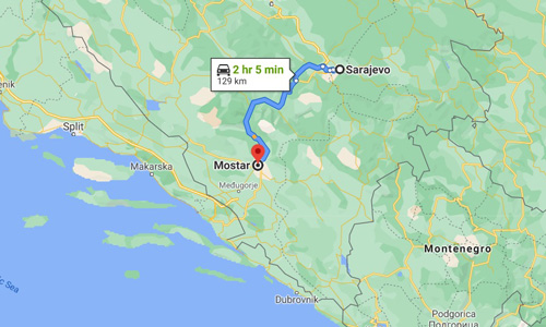 Mostar gezilecek yerler nerede Vizesiz balkan ülkeler haritası
