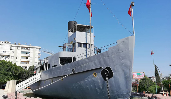 Nusret Mayın Gemisi Kültür Parkı Mersin Tarsus gezilecek yerler gezi rehberi