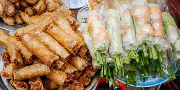 Vietnam yemekleri sokak mutfağı Goi Cuon