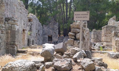 Antalya Phaselis Antik Kenti giriş ücreti Roma Hamamı