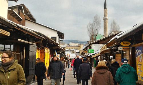 Bosna Hersek Saraybosna gezilecek yerler Başçarşı gezi rehberi