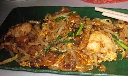 Malezya yemekleri Char Kuay Teow