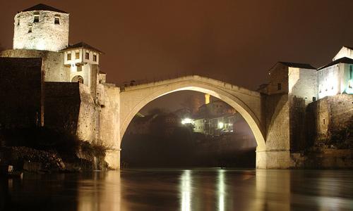 Osmanlı Dönemi mimari eserleri Tarihi Mostar Köprüsü Stari Most